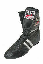 New, Black/ White, Leather, Boxing Boots