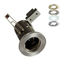 10 X HALOGEN FIRE RATED DOWNLIGHTS 12V LOW VOLTAGE FIXED PRESSED STEEL