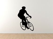 Sports Racing - Bicycling Cyclist Bike Biker version 4 - Vinyl Wall Decal