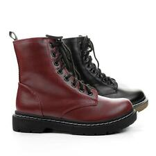 Grunge Military Combat Boots Vintage Lace Up Ankle Bootie Women Soda Shoes