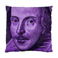 Shakespeare Droeshout Engraving Purple Version Two Sided Cushion Cover