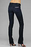 Seven 7 For All Mankind Straight Leg Dear Coco Dark Jeans Purple Crystal 23,24