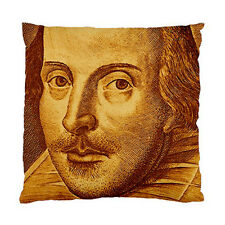 Shakespeare Droeshout Engraving Orange Version Two Sided Cushion Cover