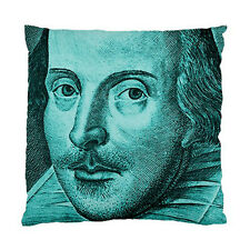 Shakespeare Droeshout Engraving Cyan Version Two Sided Cushion Cover