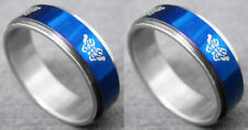 R081P Stainless Steel Spin Ring Butterfly Blue You Pick Ring Size