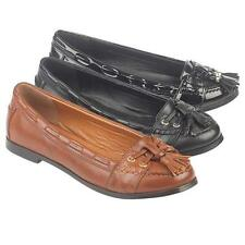 LADIES FLAT SHOES WOMENS DECK LOAFERS DRIVING COMFORT SMART FORMAL SHOES SIZE