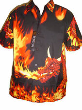 FIRE DRAGON FLAME FLAMES SHIRT NEW STYLE  kids childs all ages SHORT SLEEVE COOL