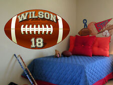 Personalized Football Vinyl Wall Decal Sticker Custom Name & Number