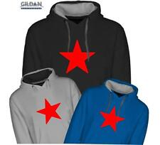 Star HOODIE - Soviet - Communist -Chinese - stage  Quality Two Tone Hood - *NEW*