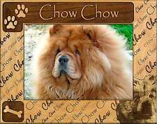 CHOW CHOW: ENGRAVED ALDERWOOD PICTURE FRAME #0228 Available in four sizes