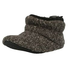 BOYS CLARKS WINTER BOOTY SLIPPERS DOOGY BOY WITH FURRY LINING CHARCOAL G FITTING