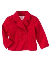 GYMBOREE CHERRY CUTE RED BOW POCKET UNIFORM TRENCH COAT 10 12 NWT