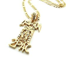 Rhinestone Iced Out Death Row Records Pendant With Figaro Chain Necklace XSP355