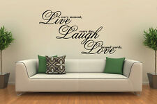 Live Laugh Love Vinyl Decal Wall Art Sticker Quote Saying Words & Phrases