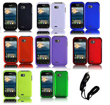 Car Charger + Faceplate Hard Cover Phone Case for LG Eclypse 4G C800G