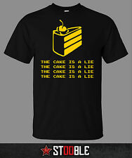 The Cake is a Lie T-Shirt - New - Direct from Manufacturer