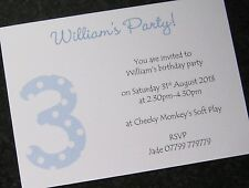 Personalised Birthday Party Invitations/Thank You Cards Boys/Girls ANY AGE