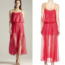Halston Heritage Tiered Long Dress Rose Pink Sparkle Gown Metallic shimmer NEW