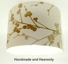 Lampshade Handmade with NEXT Twiggy Gold Linen Wallpaper VARIOUS SIZES AVAILABLE
