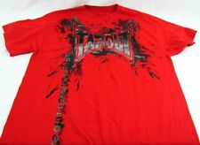 Mens NEW Tapout Wrestling Red Distressed Logo Graphic Shirt Size L XL