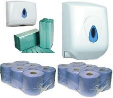 Centre Feed Rolls & C Fold Paper Towels Wall Mountable Plastic Dispensers