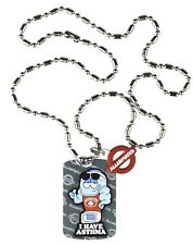 ALLERMATES CHILDREN'S ALLERGY ID TAG SILVER MEDICAL ALERT DOG TAG W/ BALL CHAIN