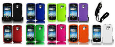 Car Charger + Faceplate Hard Cover Phone Case for LG Optimus Q L55C Zip L75C