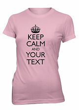 Junior's Keep Calm Custom Personalized T-Shirt Carry On Your Text Tee