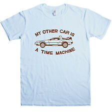 New Mens T Shirt -  BTTF inspired T Shirt - My other car is a time machine