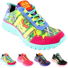 WOMENS TIGERBEAR REPUBLIK WOLFSTAR AZTEC PRINT FABRIC ECO TRAINERS LADIES UK 3-8