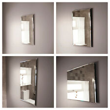 Bathroom Mirror Rectangular Wall Mounted Cloakroom Glass Portrait Landscape