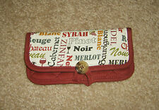 Handmade Organizer Cotton Wallet Clutch for Purse-Floral, Wine or Coffee