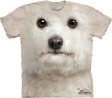 Bichon Frise Face Head Dog Pet Lover Authentic The Mountain Adult T-Shirt