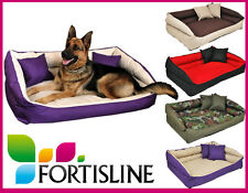 Fortisline Flores Sofa Dog Beds 3 Sizes Various Colours Top German Quality