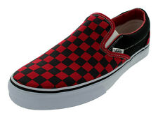 VANS CLASSIC SLIP-ON FORMULA ONE CHECKERBOARD SKATE SHOES