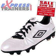 Umbro Junior Speciali 3 Cup HG Leather Football Boots (Prl Wht) * AUTHENTIC *
