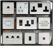 DIMMERS, LIGHT SWITCH, COOKER SWITCH, PLUG SOCKETS, FUSED SPURS, BRUSHED STEEL.
