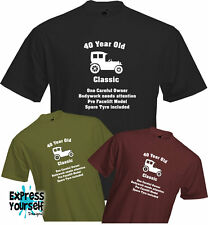 40 YEARS OLD - ONE CAREFUL OWNER, 40th BIRTHDAY T Shirt, Present, Quality, NEW