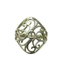 BAGUE ARGENT MASSIF 925 FILIGRANE R001321 TAILLE 45 - 64