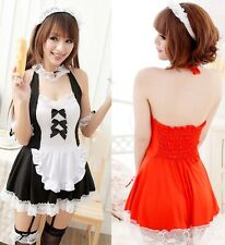 Sexy French Maid Lingerie Halloween Costume Princess Cosplay Dress Uniform A88