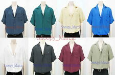New Luxurious Mens Top Quality Short Sleeve Silk Shirt Gifts S-M-L-XL-XXL AU0412