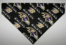 NFL Baltimore Ravens Dog Bandana Scarf – Slide over Collar –Size Small to XLarge