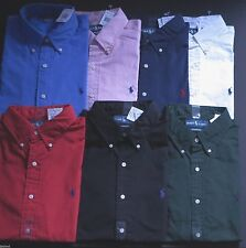 NEW POLO RALPH LAUREN MENS POPLIN COTTON CLASSIC FIT DRESS SHIRT S-M-L-XL-XXL