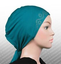 Rhinstone Polyester Cap Bonnet Hijab under scarf NEW tie back custom fit
