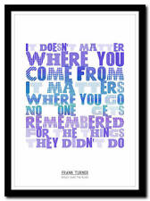 FRANK TURNER - Peggy Sang the Blues - song poster typography art print - 4 sizes