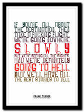 FRANK TURNER - The Ballad Of Me And My Friends- lyric poster art print - 4 sizes