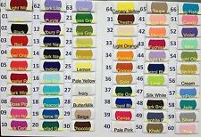 Plain Solid POLYCOTTON FABRIC 2.50 PER METRE Lowest Price on Ebay 69 colours !!!