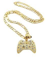 Hot New Unique Game Controller Shiny Iced Out Rhinestone Necklace MSP379
