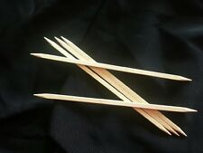 "Prestige Square Wooden Maple  Double Point Wood Knitting Needles- 7"" - Set of 5"