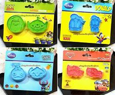 Authentic Disney Plastic Biscuits Cookie Cutters Mold Stamp Decorating Japan